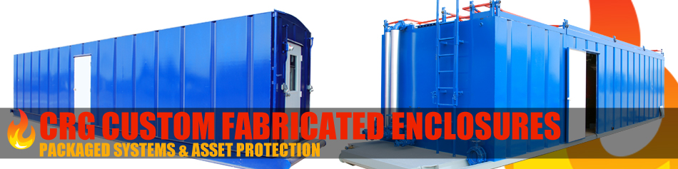 CRG Boiler Systems custom designs and fabricates enclosures.