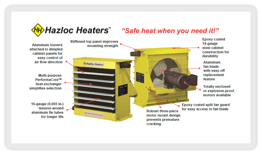 Hazloc Steam And Hydronic Heaters And Explosion Proof Electric Heaters