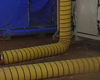 Hot Air hose transitions are developed of arctic grade material & can withstand the roughest of conditions.