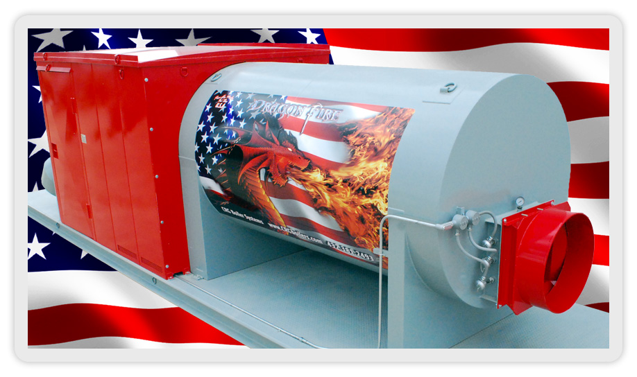 Dragon Fire industrial forced air mobile heaters