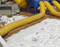 CRG Boiler Systems designs and builds hose transitions for heat distribution and inventories insulated blower hose.